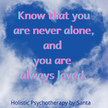 Alone but not isolated