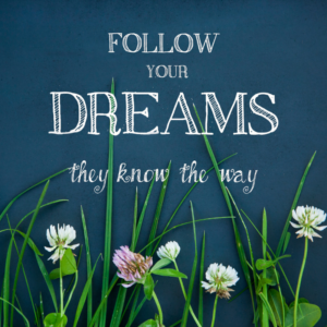 follow your dreams, they know they way
